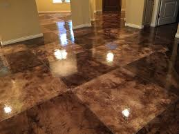stained concrete tiles